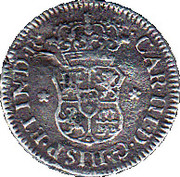 ½ Real - Carlos III (arms) – obverse