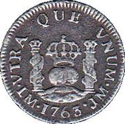 ½ Real - Carlos III (arms) – reverse