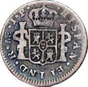 ½ Real - Fernando VII (first type) – reverse
