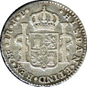 1 Real - Fernando VII (Colonial Milled Coinage) – reverse