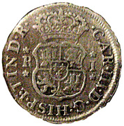 1 Real - Carlos III (Colonial Milled Coinage) – obverse
