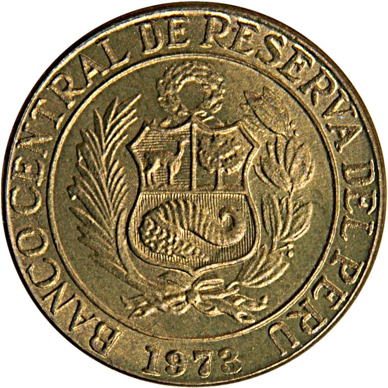 KM 244.3  5 Cents 1974  UNC Peru