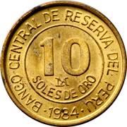 10 Soles de Oro (Admiral Grau) -  reverse