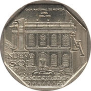 1 Nuevo Sol (450 years Casa Nacional de Moneda) -  reverse