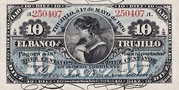 10 Centavos (Banco de Trujillo) – obverse
