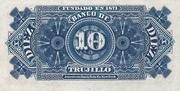 10 Centavos (Banco de Trujillo) – reverse