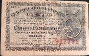 5 Centavos (Certificado de depósito de oro) – obverse