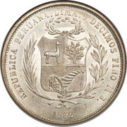 50 Centimos (Transitional Coinage) – obverse