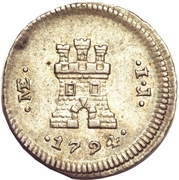 ¼ Real - Carlos IV (castle) – reverse