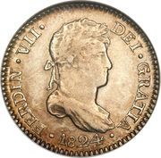 1 Real - Ferdinand VII (Colonial Milled Coinage) – obverse