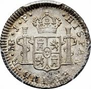 ½ Real - Fernando VII (second type) – reverse