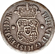 ½ Real - Fernando IV (arms) – obverse