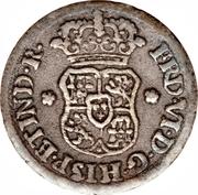 ½ Real - Fernando VI (arms) – obverse