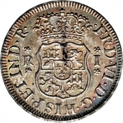 1 Real - Fernando VI (Colonial Milled Coinage) – obverse