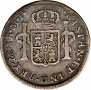 1 Real - Carlos III (Colonial Milled Coinage) – reverse