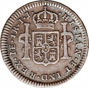 1 Real - Carlos IV (Colonial Milled Coinage) – reverse