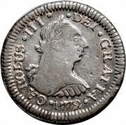 ½ Real - Carlos III (portrait) – obverse