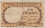 1 franc - Chambre de commerce de Perpignan – obverse
