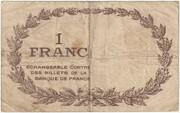 1 franc - Chambre de commerce de Perpignan – reverse