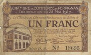 1 Franc - Chambre de Commerce de Perpignan (notgeld, 1915-1922) – obverse