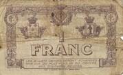 1 Franc - Chambre de Commerce de Perpignan (notgeld, 1915-1922) – reverse