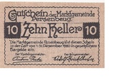 10 Heller (Persenbeug) -  reverse