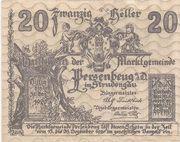 20 Heller (Persenbeug) – obverse