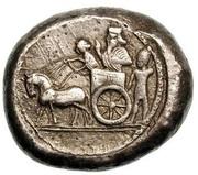 Double Shekel - Ba'alshallim II (Sidon) – reverse
