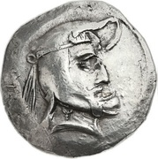 "Tetradrachm - Vadfradad I ""Autophradates"" King of Persis (Transition from Seleucid to Parthian overlordship) – obverse"