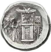 "Tetradrachm - Vadfradad I ""Autophradates"" King of Persis (Transition from Seleucid to Parthian overlordship) – reverse"