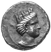 Tetradrachm - Andragoras (King of Parthia) – obverse