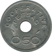 0.50 Franc (Pessac Emergency Coinage) – reverse