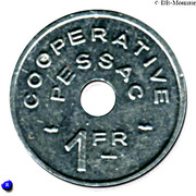 1 Franc (Pessac Emergency Coinage) – reverse