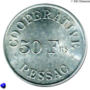50 Francs (Pessac Emergency Coinage) – reverse