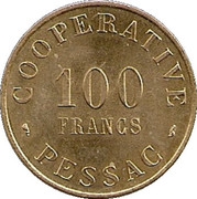 100 Francs (Pessac Emergency Coinage) – obverse