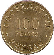 100 Francs (Pessac Emergency Coinage) – reverse