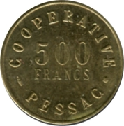 500 Francs (Pessac Emergency Coinage) – obverse