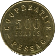 500 Francs (Pessac Emergency Coinage) – reverse
