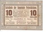 10 Heller (Peterskirchen) – obverse