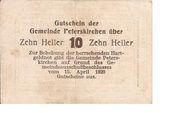 10 Heller (Peterskirchen) – reverse