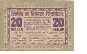 20 Heller (Peterskirchen) – obverse