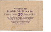 20 Heller (Peterskirchen) – reverse
