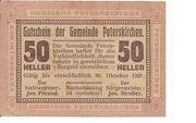 50 Heller (Peterskirchen) – obverse