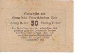 50 Heller (Peterskirchen) – reverse