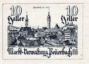 10 Heller (Peuerbach; Markt-Verwaltung Peuerbach; Brown issue) -  obverse