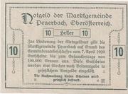 10 Heller (Peuerbach) -  reverse