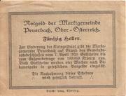 50 Heller (Peuerbach) -  reverse