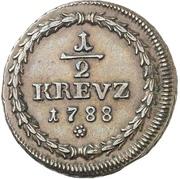 ½ Kreuzer - Karl II. August – reverse