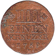 ¼ Kreuzer - Christian IV – reverse
