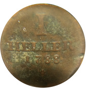 1 Heller  - Karl II. August – reverse